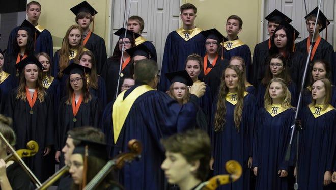 Marshfield High School held its graduation ceremony on Saturday, May 27, 2017, at the  high school.