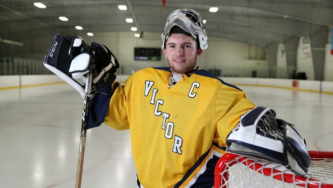 Victor goalie Chayse Ierlan is the AGR Hockey Player of the Year.