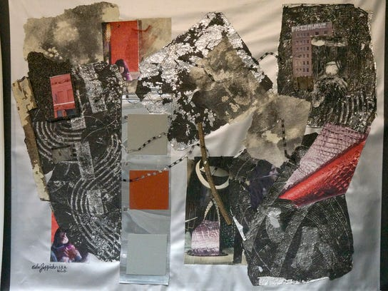 """Silver Screen"" is a collage by Edee Joppich."