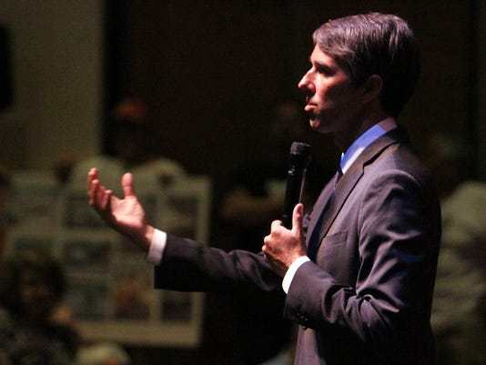 U.S. Rep. Beto O'Rourke held a past townhall meeting at the Chamizal National Memorial.
