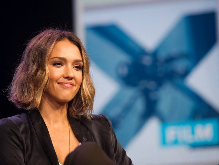 Actress Jessica Alba, founder of The Honest Co., during SXSW panel