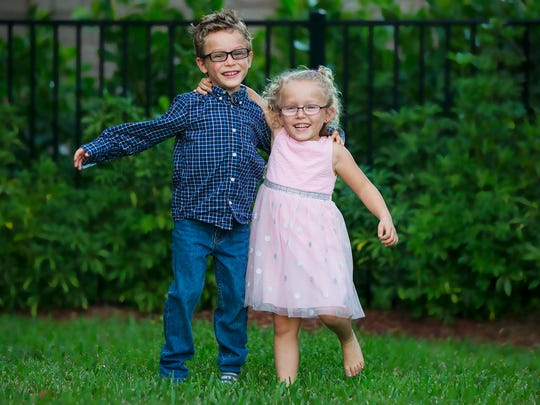 Leo and Lola Grabinski, 5-year-old twins, are the official child artists for the 2017 Southwest Florida Wine & Food Fest.