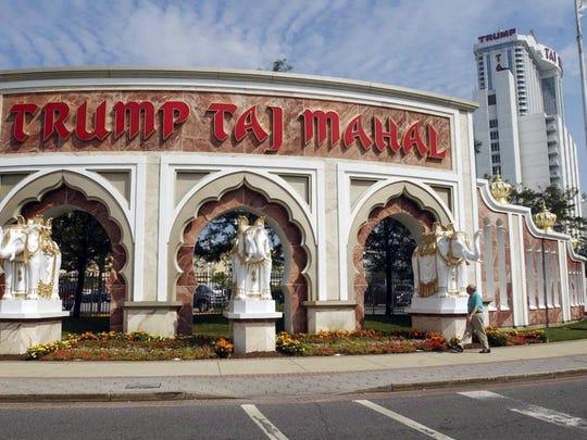 "The ""Trump"" letters no longer adorn the Taj Mahal casino."