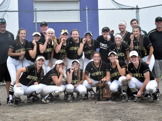Howell's softball team celebrates its first regional