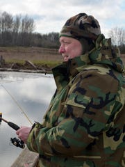 Rick Martell of Portland has been coming to St. Louis Ponds with his physically limited fishing buddy Mark Cooley, also of Portland, for about a half-decade.