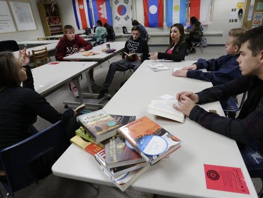 Oshkosh West High School English teacher Alex Griffith