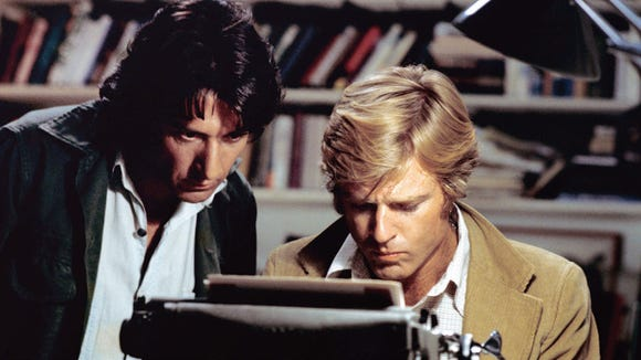 Dustin Hoffman (left) and Robert Redford are reporters