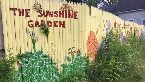 The Sunshine Garden at the corner of North and Bernard