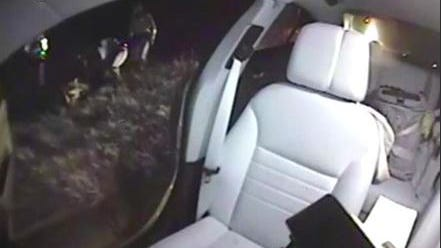 A trooper's dashboard camera captured the last minutes of handcuffed suspect's life after he was left unattended and escaped from the vehicle, running into interstate traffic.