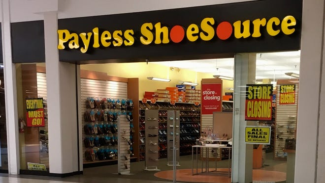 Signage on windows and throughout the store indicate the Payless ShoeSource store in Sike Senter will close as part of the retail chain's bankruptcy decision.