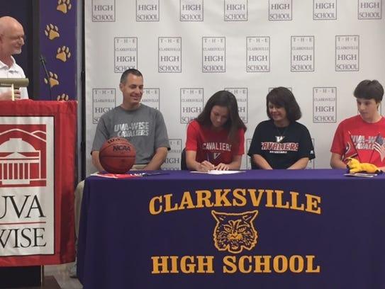 Clarksville High's J.K. Cummings signs her college
