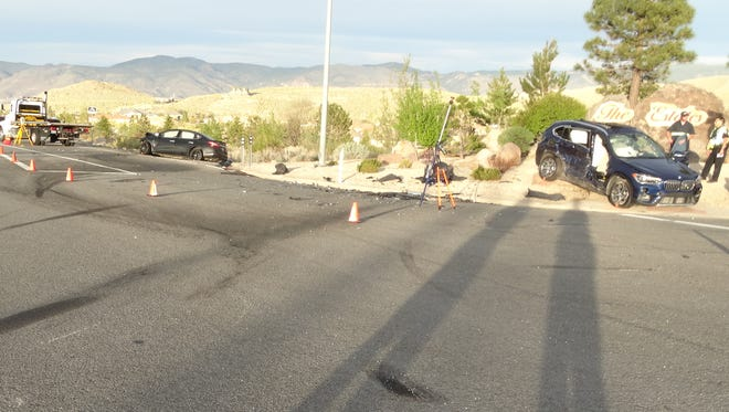 The Nevada Highway Patrol released a photo showing the scene of a deadly crash that occurred May 5 along Mt. Rose Highway. The crash led to the deaths of Charles Houston, 83, and his 78-year-old wife, Bjorg.