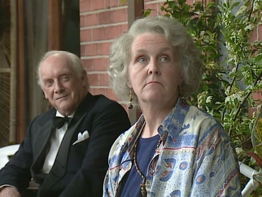 Graham Crowden and Stephanie Cole in 'Waiting for God'.