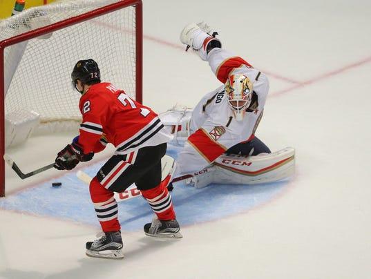 USP NHL: FLORIDA PANTHERS AT CHICAGO BLACKHAWKS S HKN USA IL