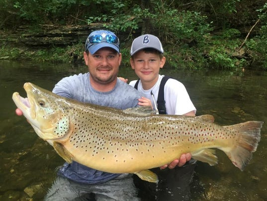 Success ole henry caught by young angler for White mountain fishing report