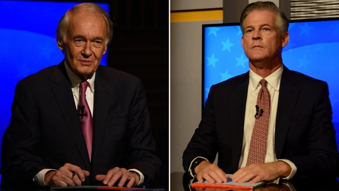 U.S. Sen. Edward Markey and Republican challenger Kevin O'Connor debated Monday night from separate studios on GBH News.
