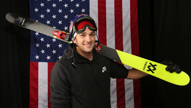 Nick Goepper poses for a portrait at the 2017 Team USA Media Summit on Sept. 26, 2017, in Park City, Utah.