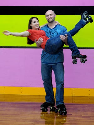 Heidy Sica, 35, and Mike Jobs, 39, who met six-years-ago on a blind date at Hyde Park Roller Magic, are getting married today, Saturday, at the roller rink with their skates on. The couple is from Poughkeepsie.