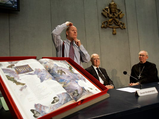 Donald Jackson, Gerald Rauenhorst, Abbot John Klassen