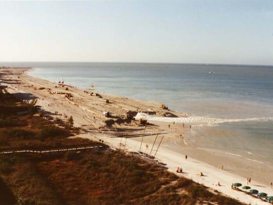 Marco beach renourishment 1991.