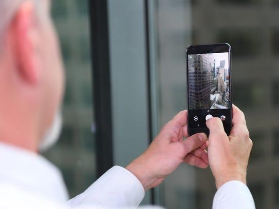 Using the camera on Pixel. Photo by Robert Deutsch,