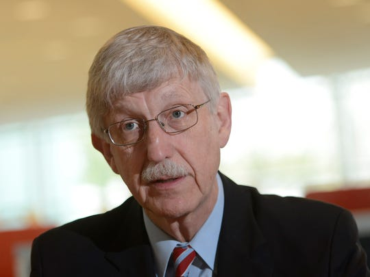 Francis Collins speaks to the USA TODAY Editorial Board