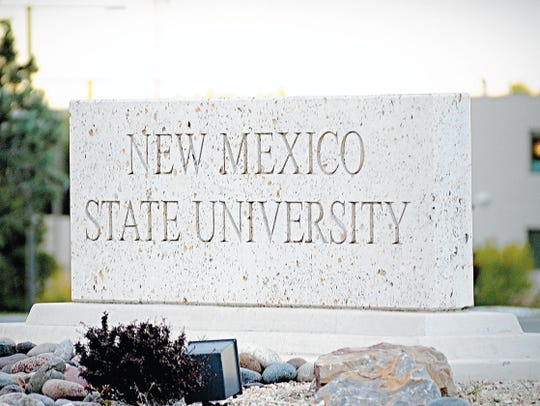 The stone with the name of New Mexico State University