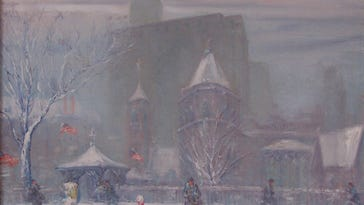 Impressionist painter Johann Berthelsen was most famous for his New York snow scenes. Berthelsen grew up in Manitowoc and maintained close ties to the area throughout his life.