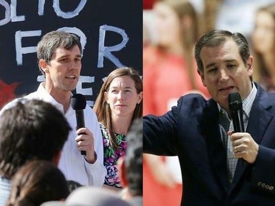 U.S. Rep. Beto O'Rourke and U.S. Sen. Ted Cruz