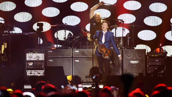 Paul McCartney performs Monday night at the Denny Sanford Premier Center in Sioux Falls as part of his One On One Tour, May 2, 2016.