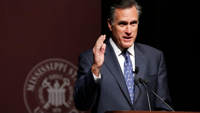 Former GOP presidential candidate Mitt Romney, pictured at a public lecture last week, announced today that he will not attempt a third campaign for the White House, encouraging the party to find a strong reformer for 2016.