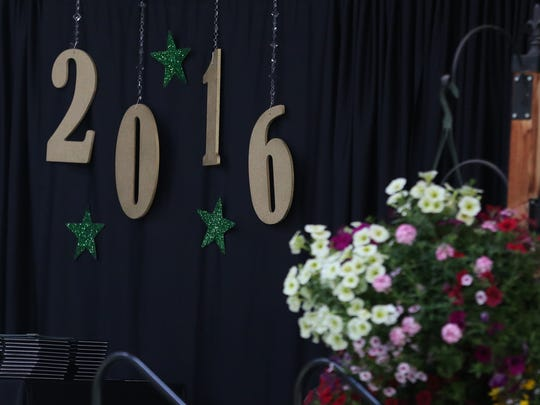 Class of 2016 decorations for the Regis High School commencement on Sunday, June 5, 2016, in Stayton.