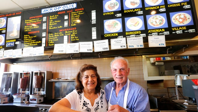 George and Maria Xioufaridou Friday, July 1, 2016, at Akropolis Restaurant, 3311 South Street in Lafayette. The Greek restaurant is changing hands after more than 30 years.