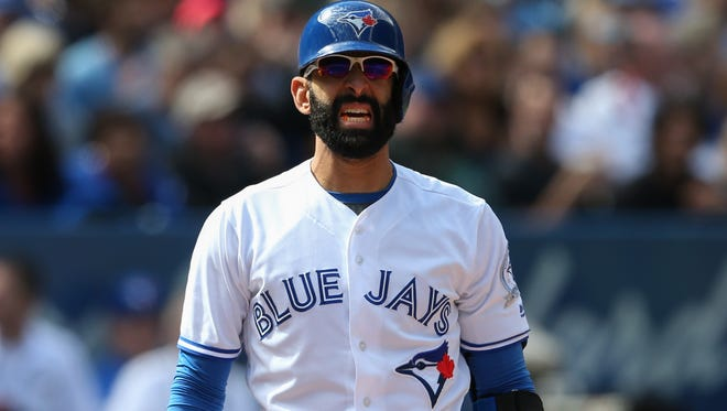 Toronto Blue Jays right fielder Jose Bautista is batting .233 with 22 home runs.