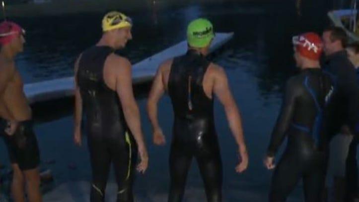 Navy Seals before getting into Sebago Lake
