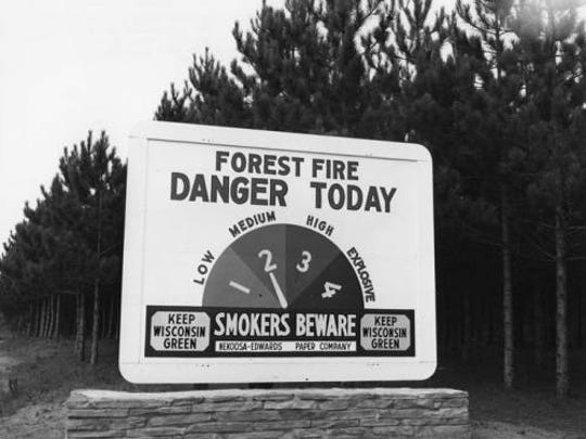 Smokers are warned not to dispose of cigarettes especially during red flag warnings when fire danger is extreme.