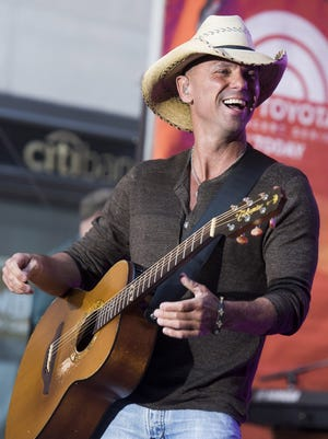 "Kenny Chesney performs on NBC's ""Today"" show on Tuesday, Sept. 23, 2014, in New York."