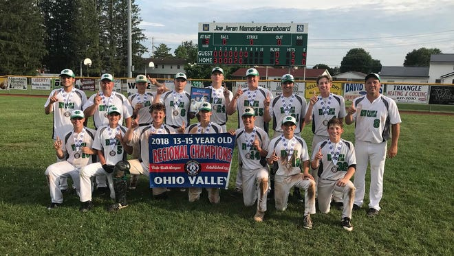 New Castle poses after winning the Ohio Valley regional and advancing to the Babe Ruth World Series.