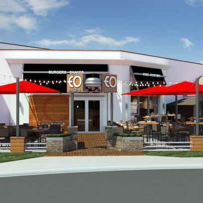 A rendering of the new EO Burgers, which is set to