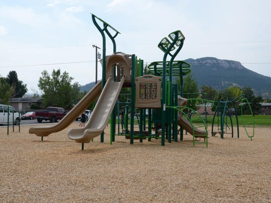 New playground equipment at Waukesha Park in Helena was paid for in part by the Land and Water Conservation Fund.