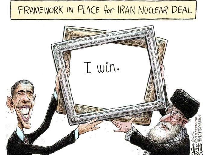 Cartoons On A Nuclear Deal With Iran