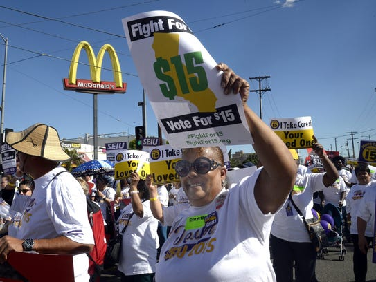 Protests by fast food workers resulted in a rise in