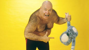 """George """"The Animal"""" Steele had spent time in hospice care for parts of the last nine months."""