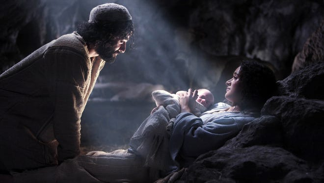 """Keisha Castle-Hughes and Oscar Isaac appear in a scene from the motion picture """"The Nativity Story."""""""