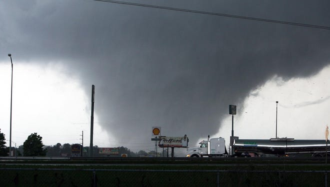 A tornado moves through Tuscaloosa, Ala. Wednesday, April 27, 2011. Tornadoes will be the subject of a large scientific campaign this spring in the Southeast.