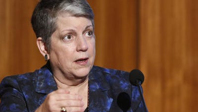 UC President Janet Napolitano made a visit to Hartnell College in Salinas on Thursday