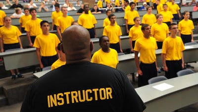 In this file photo, youth recruits are seen at the Morris County Police and Fire Academy.