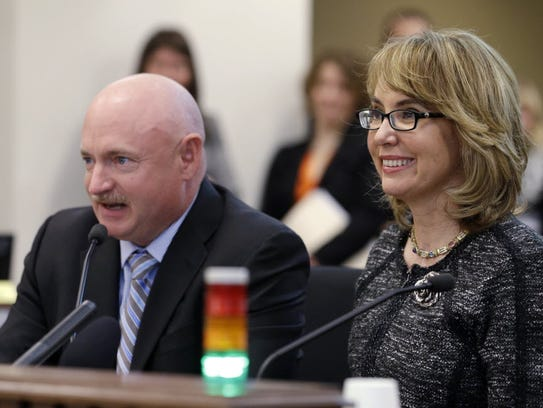In this 2014 photo, former Arizona Rep. Gabrielle Giffords