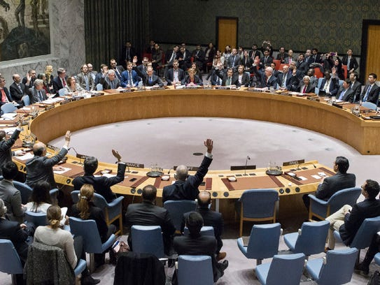 Members of the United Nations Security Council vote