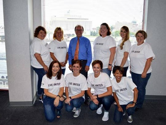 United Way's 2017 Campaign chairman and cabinet, Dr.